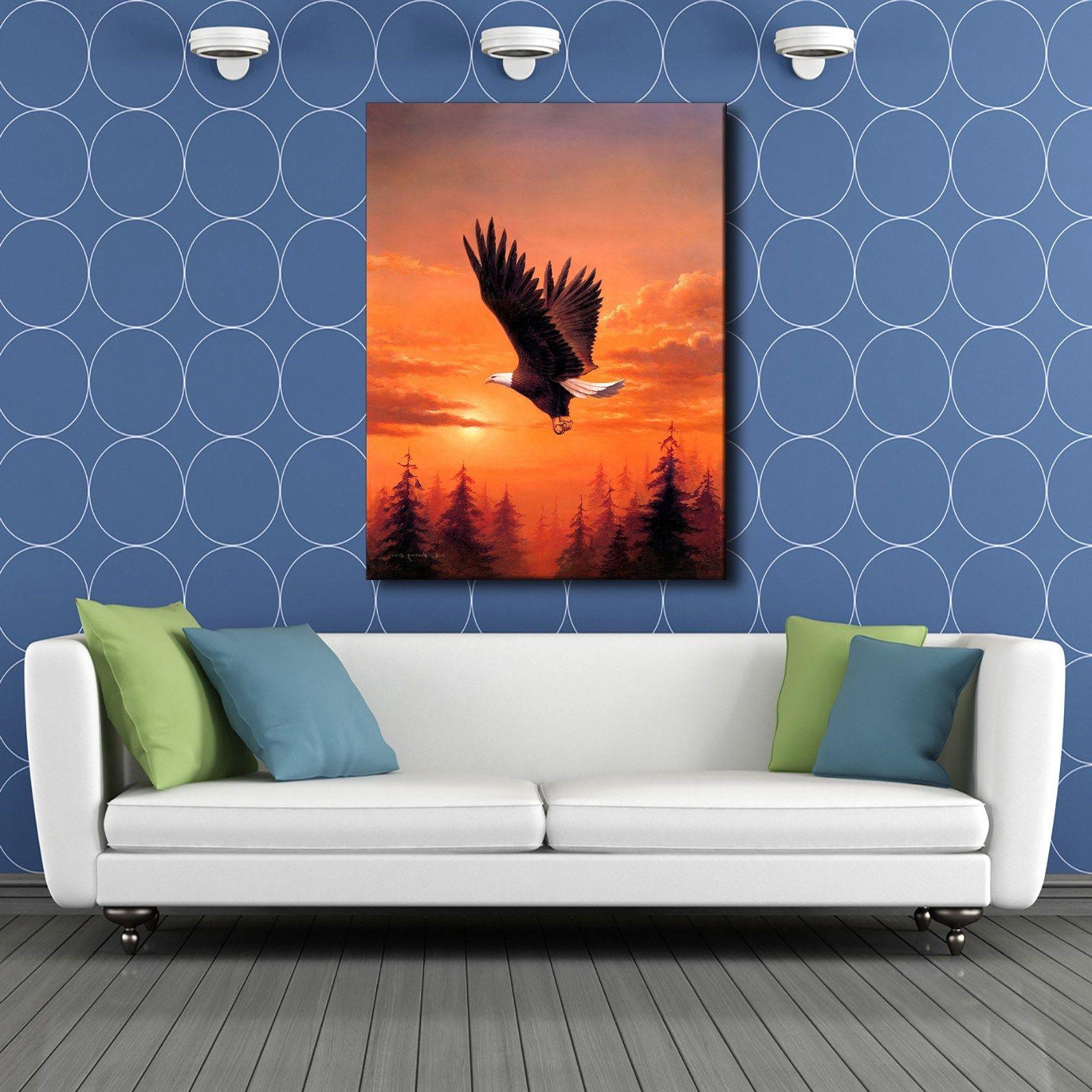 A0441 Bald Eagle In Home Decor Canvas Print Wall Painting