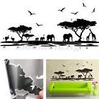 African Animals Elephant Wall Sticker Mural Decal Removable