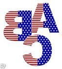 American Flag Alphabet Letter Wall Decal Personalize Name 4