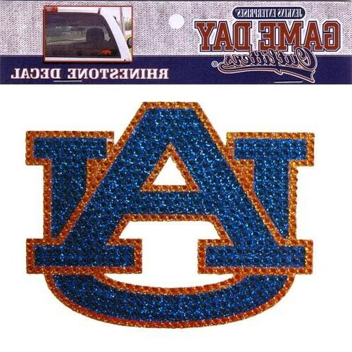auburn tigers rhinestone bling window decal sticker