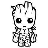 Baby Groot Vinyl Decal Sticker | Cars Trucks Vans Walls Lapt
