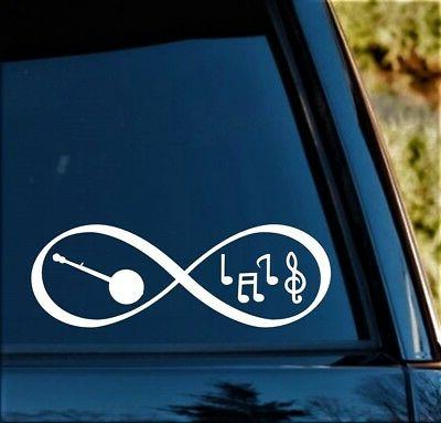 Banjo Music Notes Infinity Decal for Car 8 BG 188