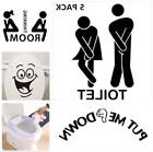 Pack of 5pcs Bathroom Washroom Toilet WC Wall Stickers Funny