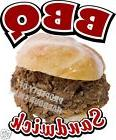 bbq sandwich decal barbeque concession