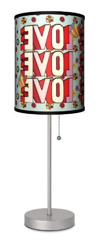 The Beatles - Love Love Love Sport Silver Lamp