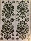 BLACK & SILVER SWIRL wall stickers 24 decals living room dec