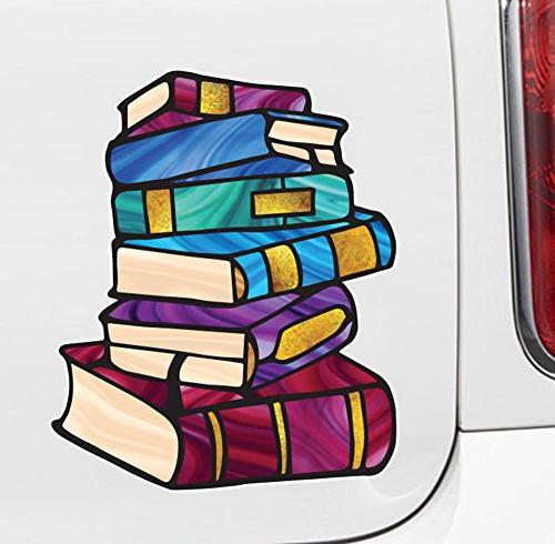 books stack of books library stained glass