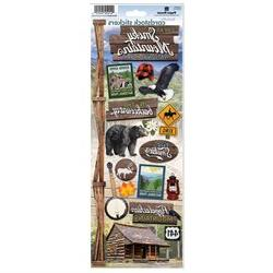 Paper House Cardstock Stickers 4.625X13-Great Smoky Mountain