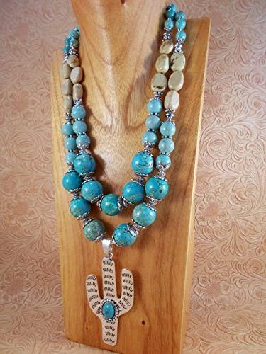 chunky western cowgirl necklace set