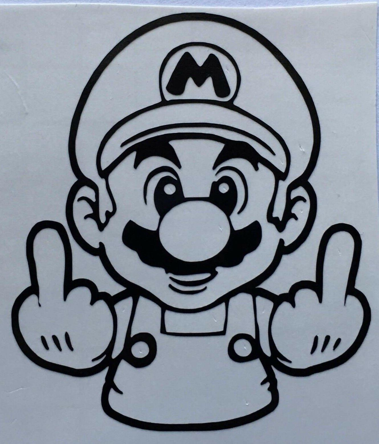 color size choice nintendo middle finger mario