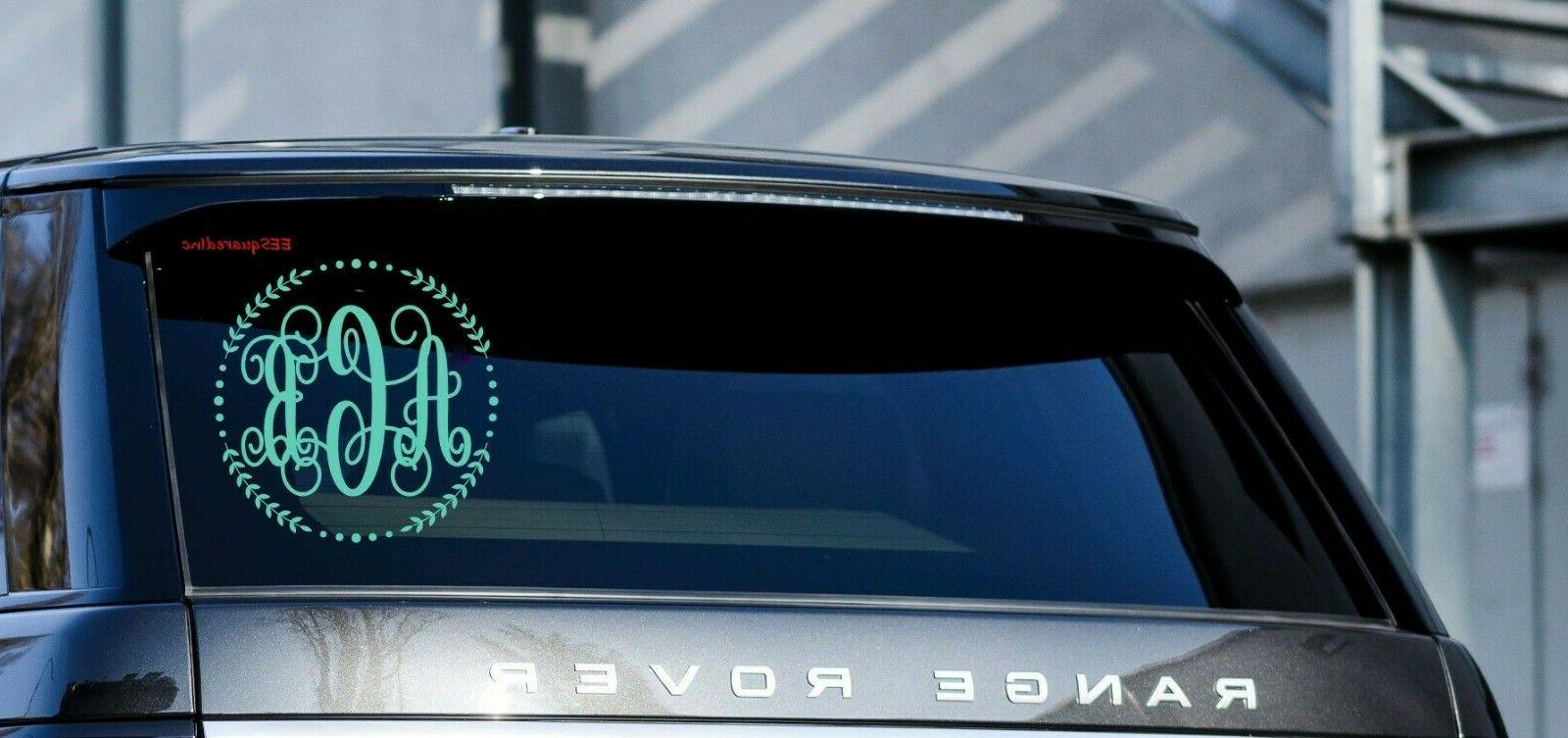 "Custom Car Decal 5"" Vine Personalized"