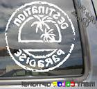 destination paradise tropical hawaii car auto window