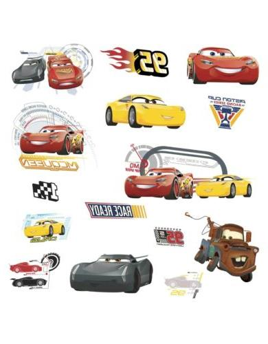disney cars 3 movie wall decals lightning
