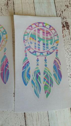 Dream Catcher with decal. Tumbler decal,