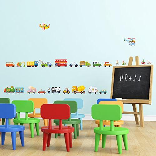 DECOWALL DW-1405 Kids Stickers Removable Wall Stickers Kids Room