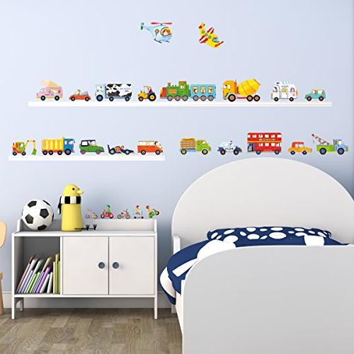 DECOWALL DW-1405 Stickers Peel Stick Removable Wall Kids Room