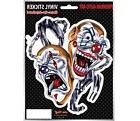 Evil Clown Car Sticker - Saddist - Handcuffs - Biker - Windo