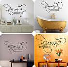 Family Quote wall vinyl decals stickers DIY Art Decor Decal