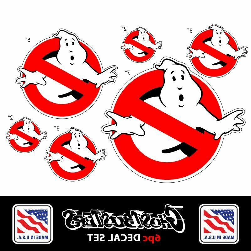 GHOSTBUSTERS Sticker Decal *6 Piece Set* Car, Bumper, Wall,
