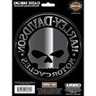 Harley-Davidson Willie G. Skull Decal 5 inch Chrome and Blac
