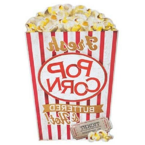 hot buttered popcorn wood wall decor movie