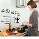 House Family Kitchen Rules Quote Wall Stickers Art Room Remo