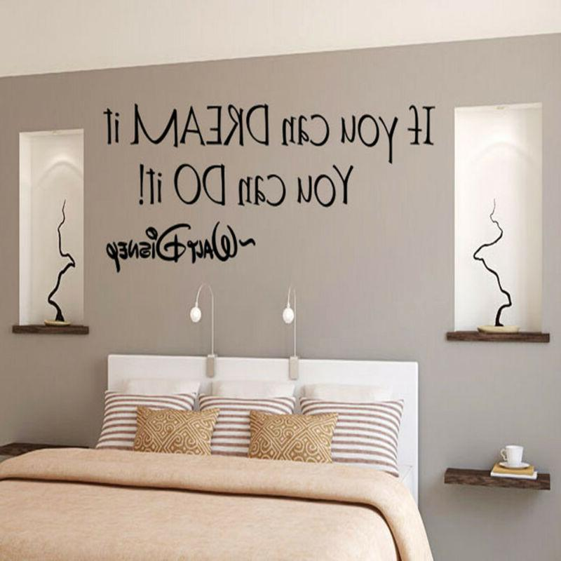 Inspiring Quotes Wall Sticker Home Art Decor Decal Mural Wal