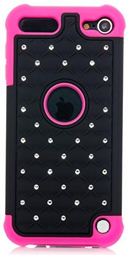 iPod Touch, Hybrid Luxurious Lattice Dazzling Bling Bling Du
