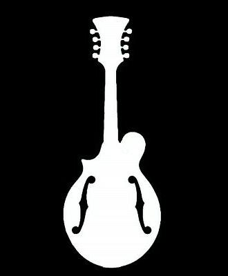 Mandolin Decal Sticker Car Van Bluegrass J1015