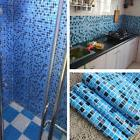 Kitchen Bathroom PVC Tiles Mosaic Self Adhesive Wallpaper fo