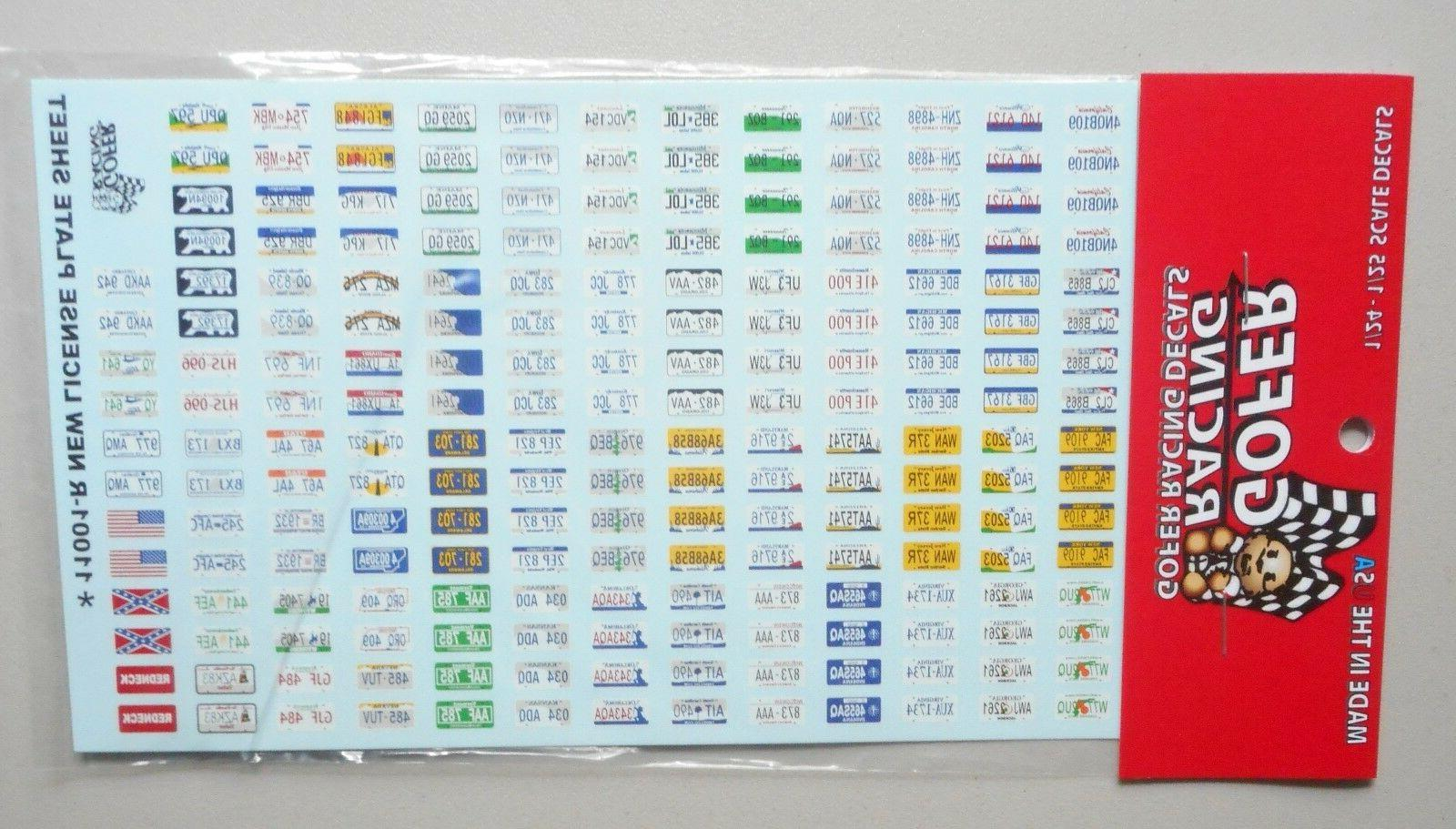LICENSE PLATES 1:24 1:25 GOFER RACING DECALS CAR MODEL ACCES