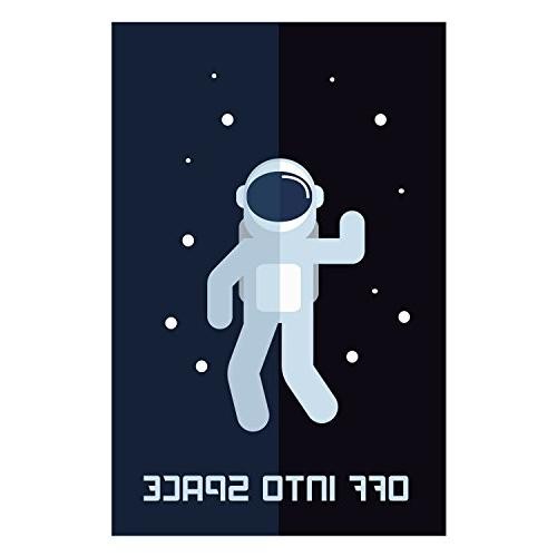 LIMITED Decor, Set 11 Space Posters, Modern Art Children Canvas Wall Comes Ready To Use! Retro Science, System, Classroom