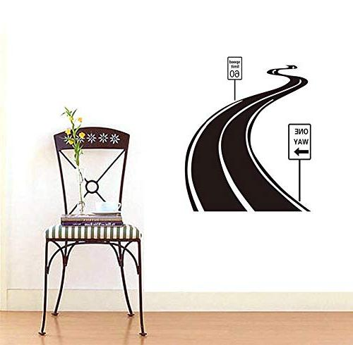 """BIBITIME Living Sign Sinuous Road Wall Decal WAY Arrow Signboard 27.55"""""""