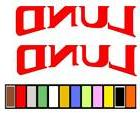 LUND BOAT STICKER DECAL FISHING *ANY SIZE OR COLOR AVAILABLE