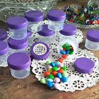 Made in America 28 Jars Containers Purple Caps Lids Screw On