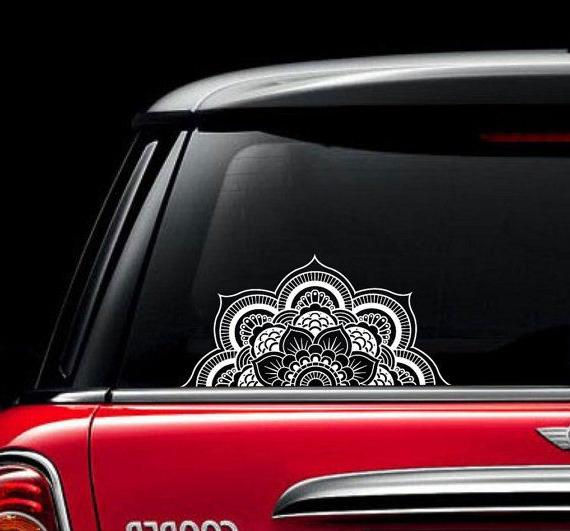 Mandala Car Decal Vinyl Sticker Decals Window Truck Lotus Fl