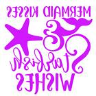 Mermaid Kisses Starfish Wishes Vinyl Decal Sticker Wall Cup