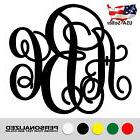 "2"" up to 29"" Monogram Monograma Custom Decal Sticker Yeti Wa"