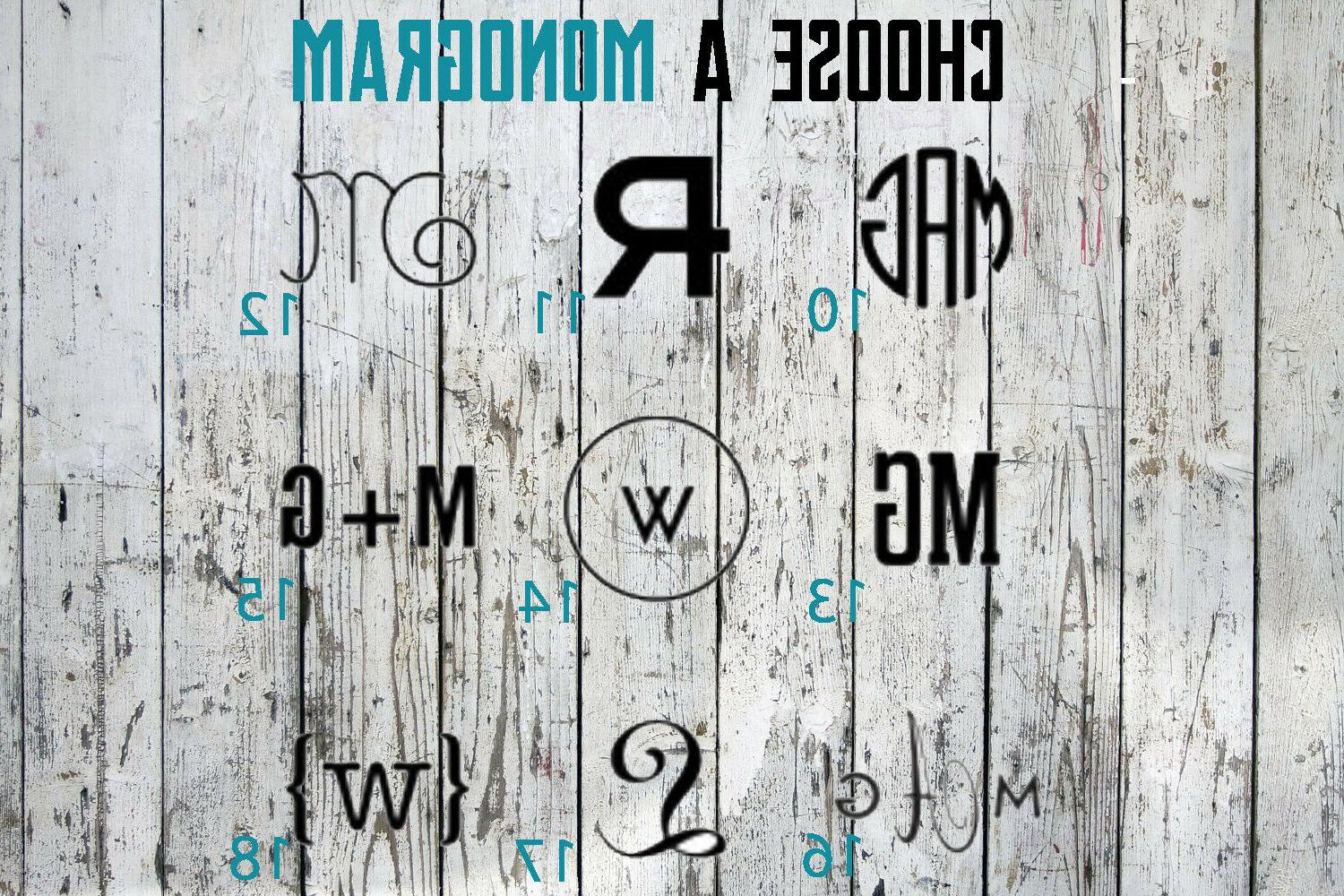 Monogram Decal Frame For Cup, Tumbler, Car,