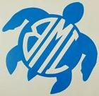 Monogrammed Sea Turtle Vinyl Car Decal ***AVAILABLE 20 COLOR
