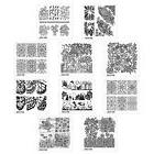 Bundle Monster 10pc Nature Themed Nail Art Stamp Plates - My