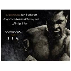 Muhammad Ali Poster Be Courageous Quote Art Print