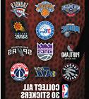NBA BASKETBALL LOGO STICKERS COMPLETE SET ALL 30 TEAMS FREE