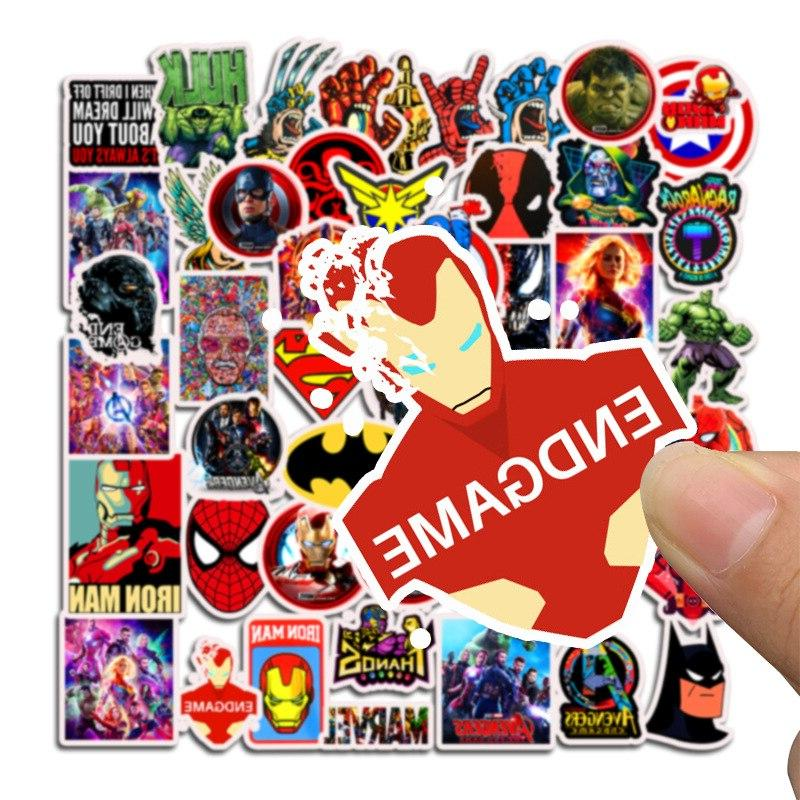 50Pcs Marvel Stickers for Laptop <font><b>Car</b></font> Suitcase Bicycle <font><b>Decals</b></font> Superhero Action Toys