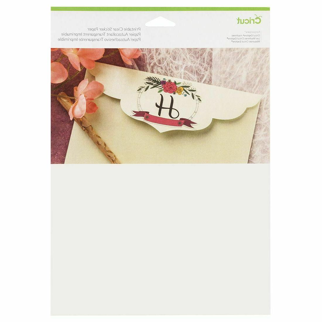 new printable sticker paper clear