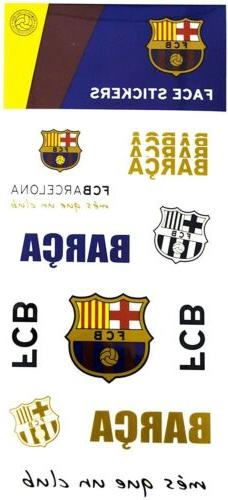 Official FC Barcelona Face Stickers