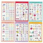 5 Sheets Cartoon Paper DIY Photo Album Scrapbook Calendar Di