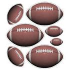 Peel and Stick Football Stickers Decals Removable Wall Art S
