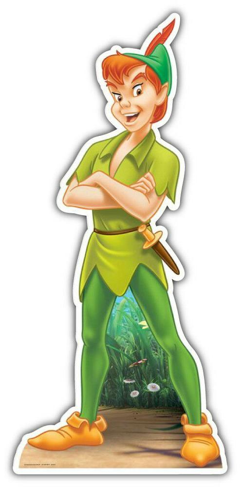 peter pan cartoon car bumper sticker decal