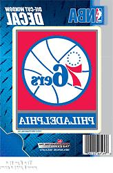 "Philadelphia 76ers Sixers 5"" Vinyl Die Cut Decal Sticker Emb"